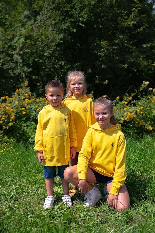 «AVIUL» Kapuzensweatshirt für Kinder – gelb