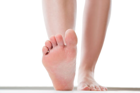 Feet care concept, female foot, chiropod