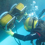 UMC-diver-hull-cleaning-with-PJ-machine.