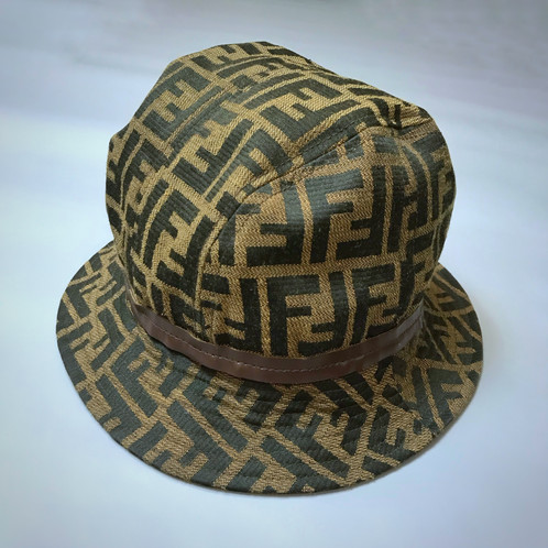 b8aec522ac4c0 Vintage Fendi 80 s Bucket Hat In Ladies XL (Mens Medium To Large - Normal  Mens Size) Taped Leather Cord   Lined. Made In Italy. Good Condition Minor  Signs ...
