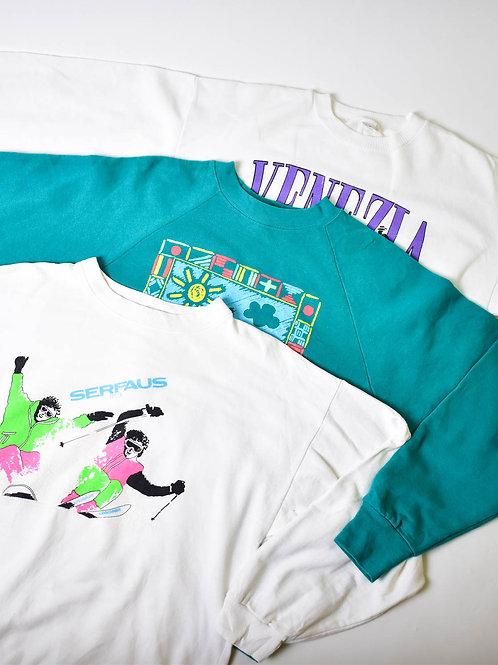 80's Printed Sweatshirt (100 pcs bale)