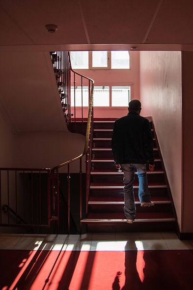 Escalier dans la série Histoire familiale