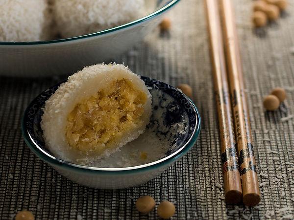 Perles coco aux graines de soja jaune.jp