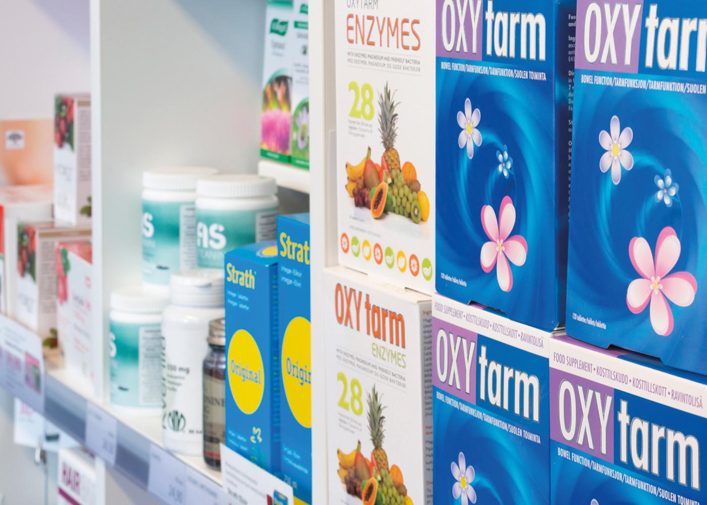 Terveyskauppa-Ulpukka-tuotteita
