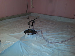 Sub-membrane system with sump pit