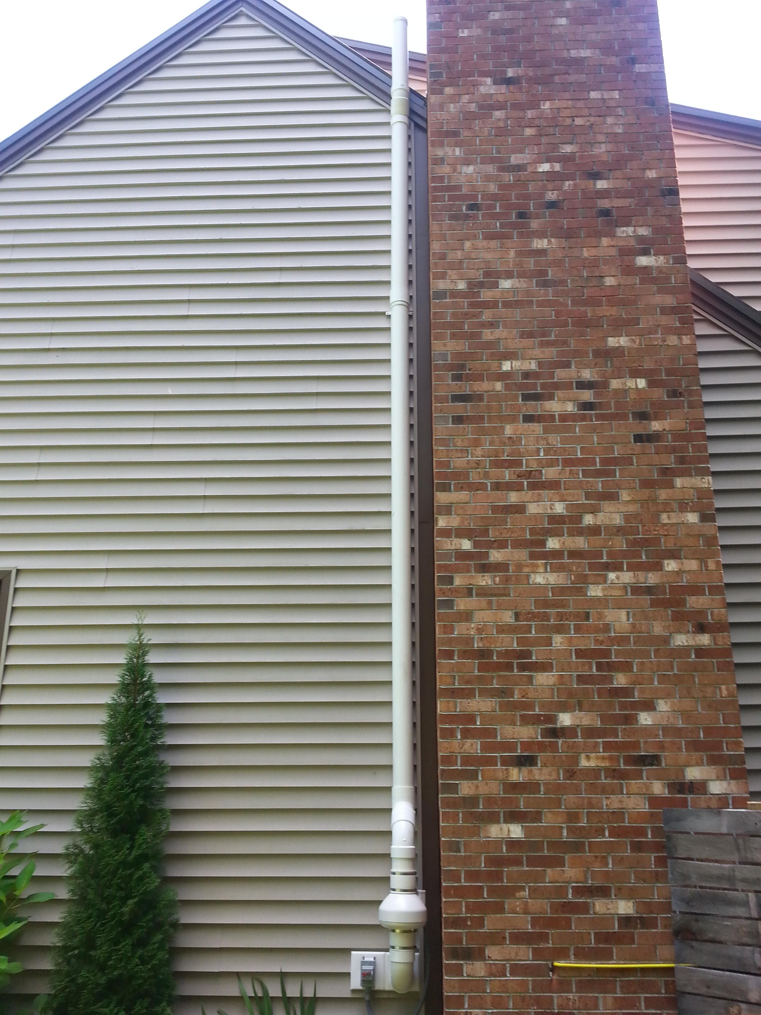 Discrete location for radon fan