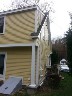 Exterior mitigation fan and piping
