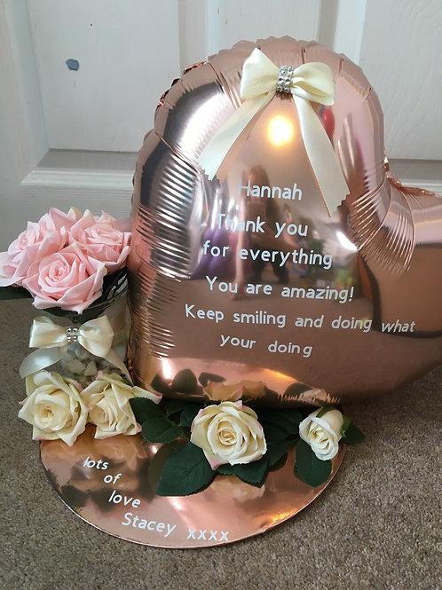 Balloon and flower gift board