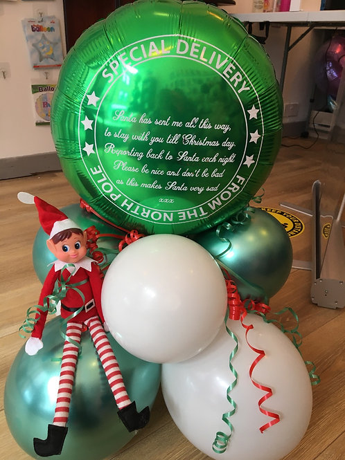 North Pole Gift Design with Elf