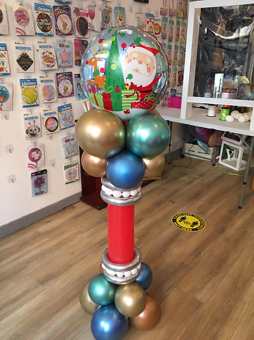 """Christmas Pedestal Display with 18"""" foil"""