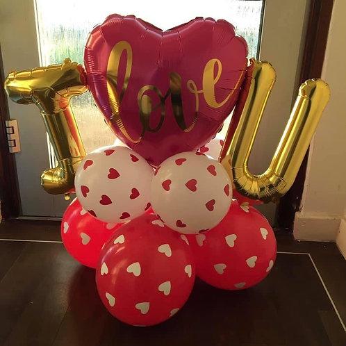 I Love U valentines gift balloon