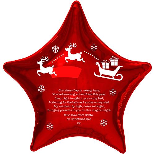 Christmas Eve Personalised Helium Balloon