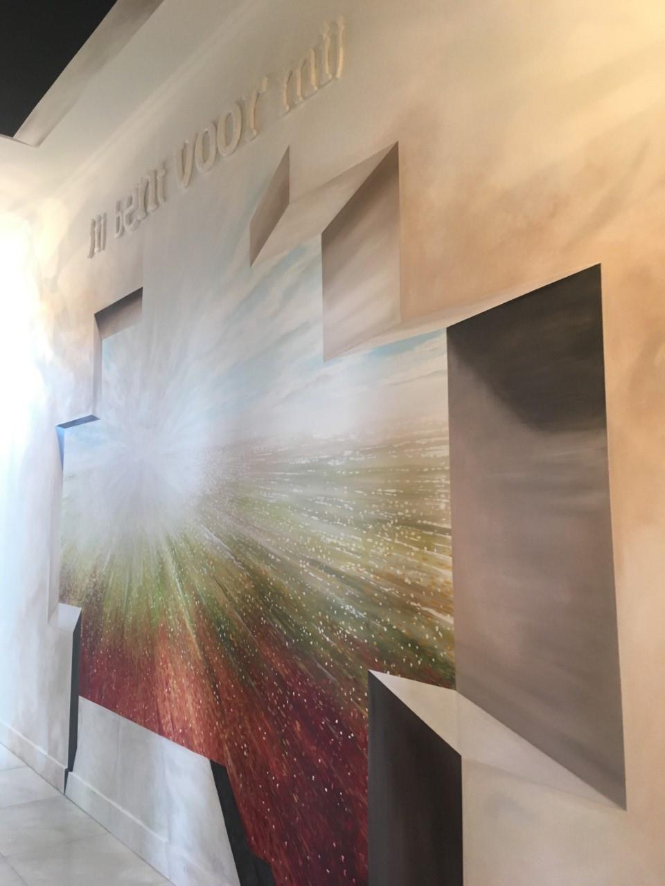Semi Abstracte Muurschildering Groningen