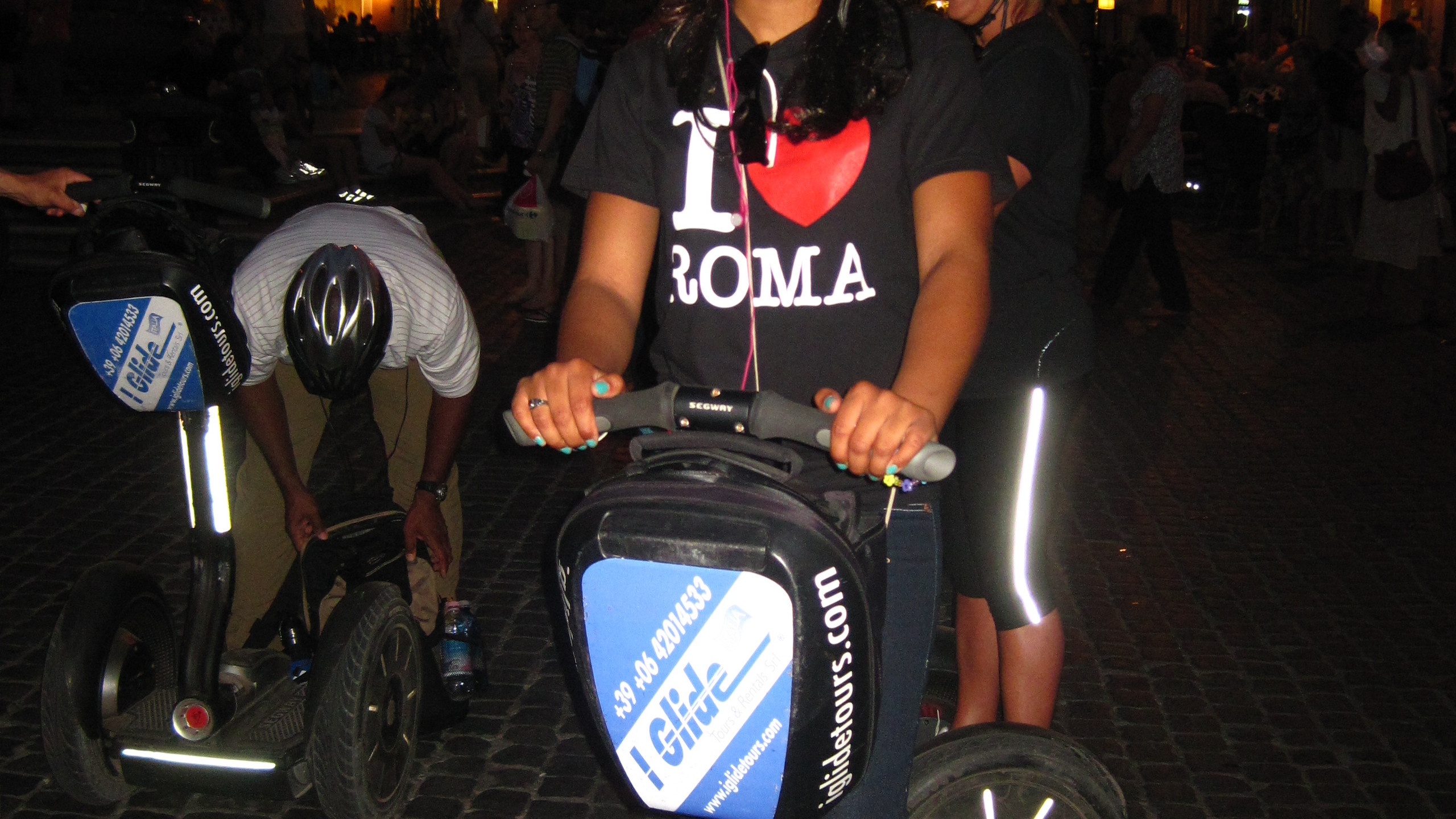 Segway tour around Fountain of Four Rivers in Rome and surrounding area