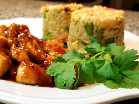 Shrimp Fried Rice & Teriyaki Chicken