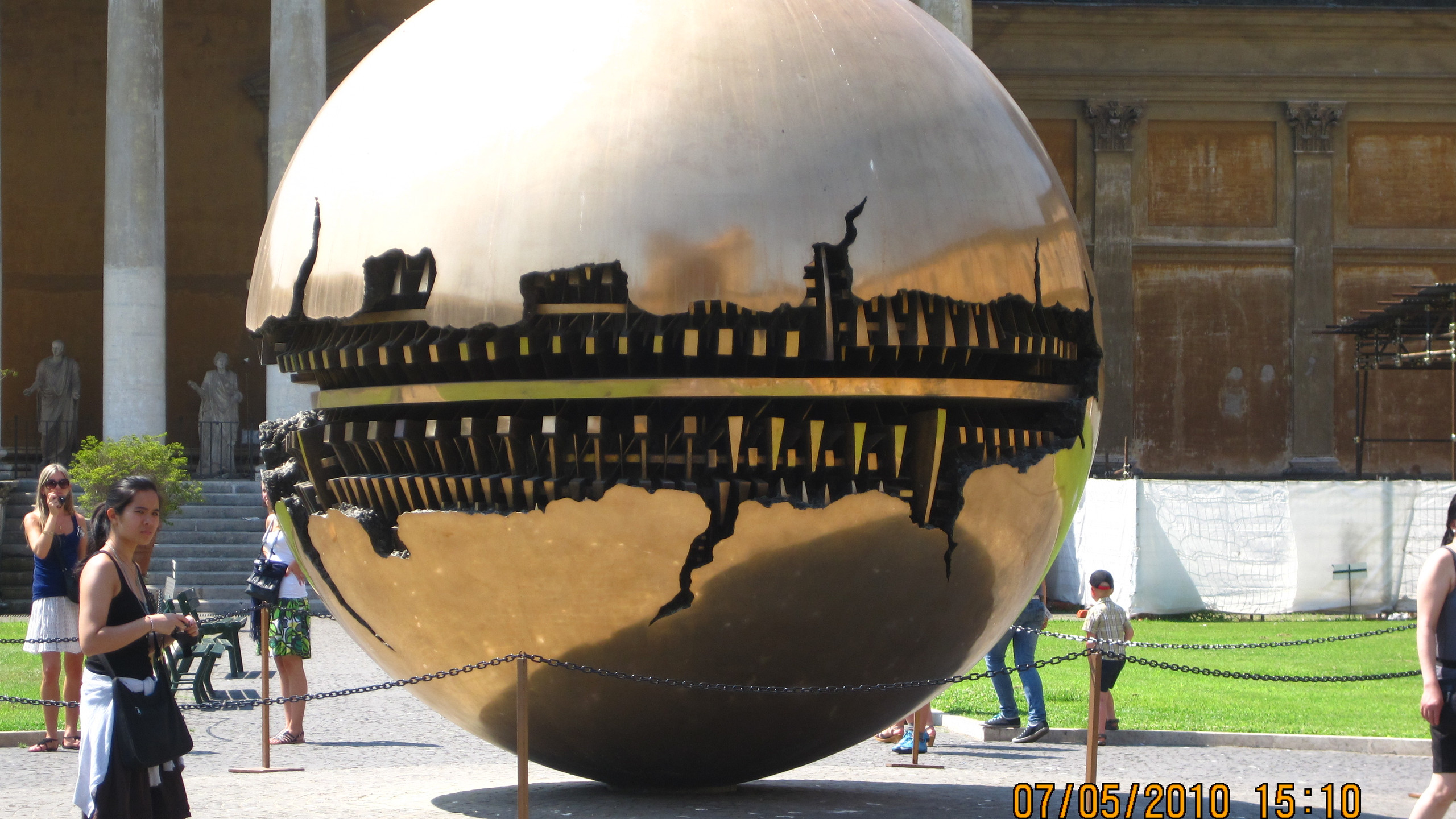 sphere within a sphere. Vatican Museum