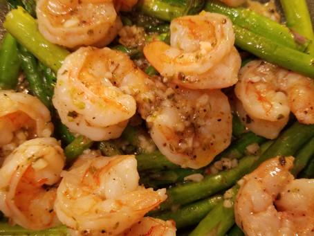 White Wine Garlic Shrimp & Asparagus