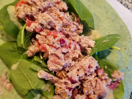 Tuna Spinach Wrap