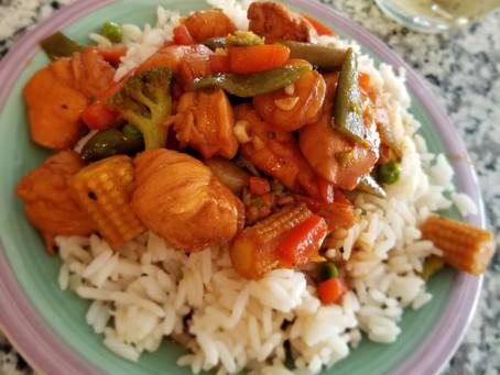 Honey Garlic Butter Shrimp& Chicken