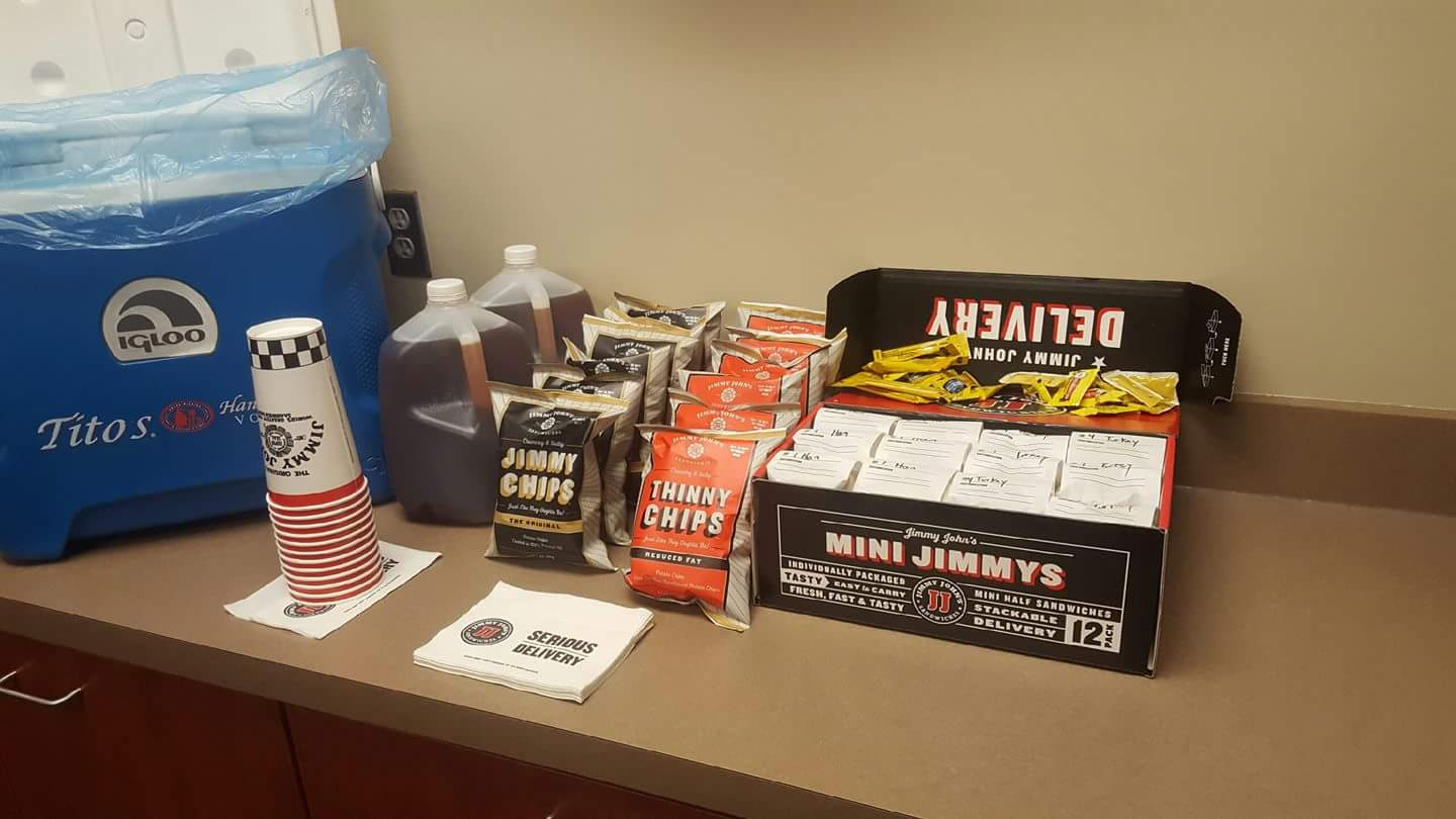 Catered by Jimmy John's