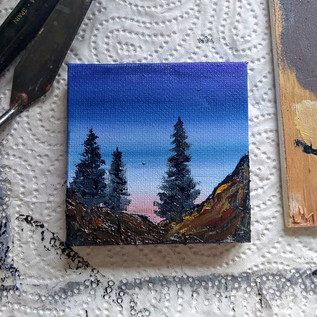 Tiny morning painting. #oilpainting #mou