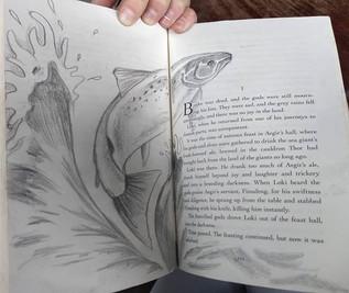 Loki the Salmon #norsemythology #neilgai
