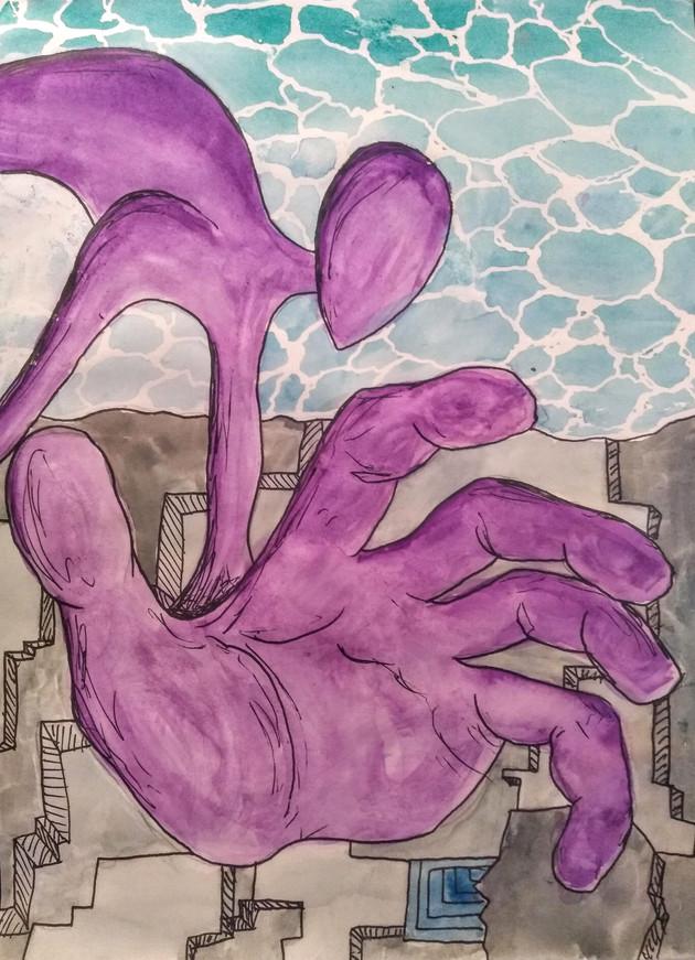 Drawing my Dreams: Purple monsters