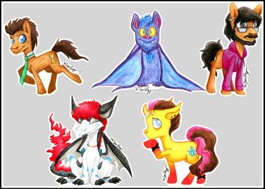 Watercolour Critter Badges