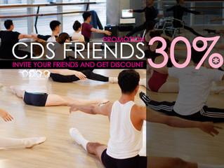 CDS FRIENDS DISCOUNT 30%
