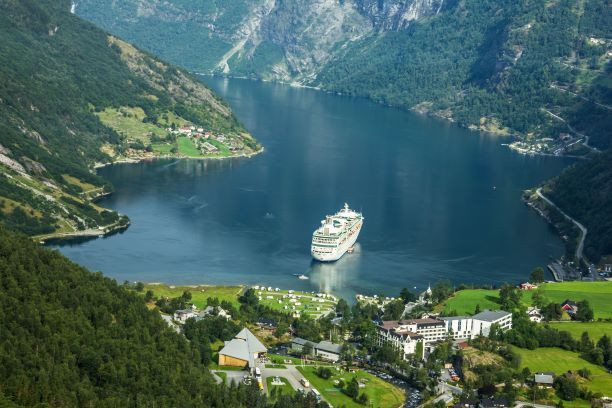 Cruise ship in Europe