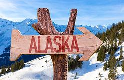 Alaska wooden sign