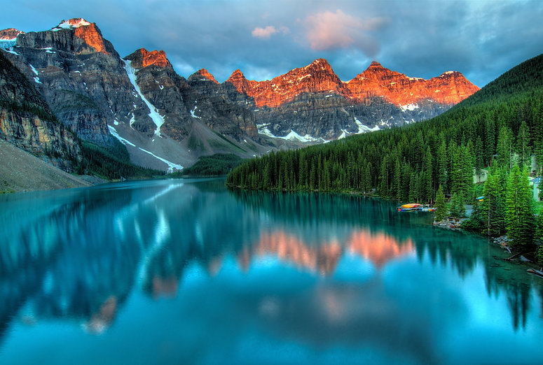 beautiful mountain and lake landscape destination from Cruise Dreams