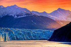 Hubbard Glacier at Sunrise in Alaska