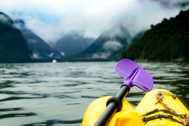 Kayacking while on vacation
