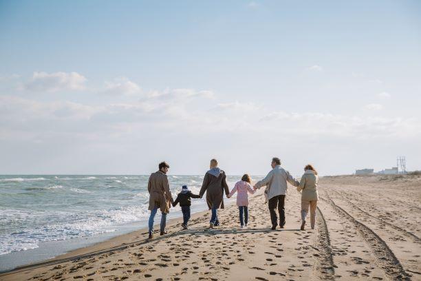 Multi-Generational family on beach