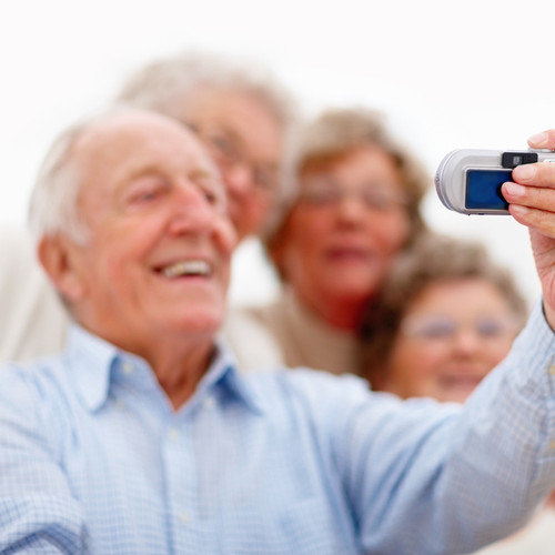 Seniors enjoying luxury travel
