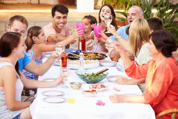Family Vacation dinner