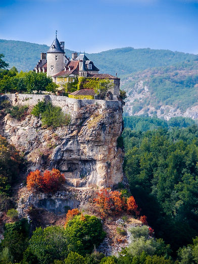 Castle on cliff group travel package destination