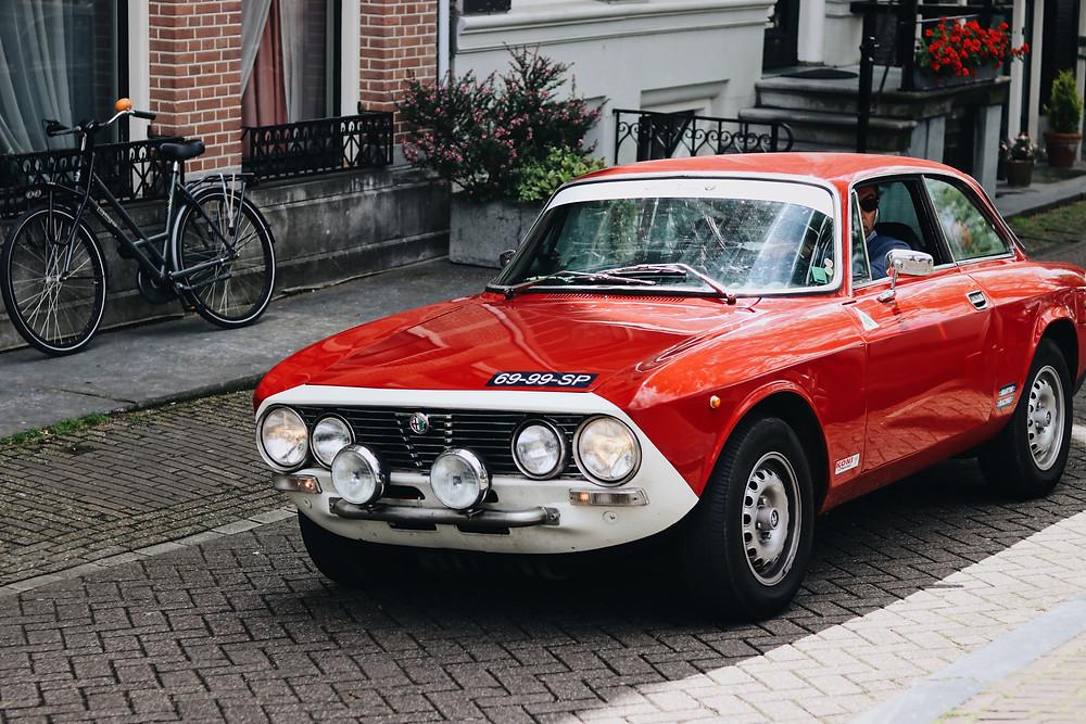 Alfa Romeo sports car road rally