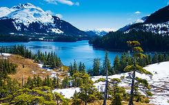 Mountains and lake in Alaska