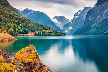 Lake and Mountains in Norway