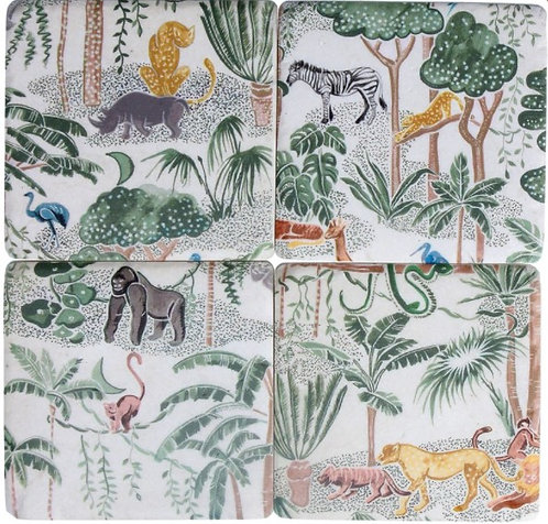 Gisela Graham resin coasters – jungle