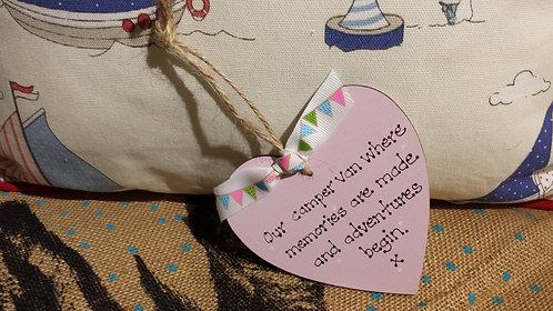Our Camper Van Wooden Heart