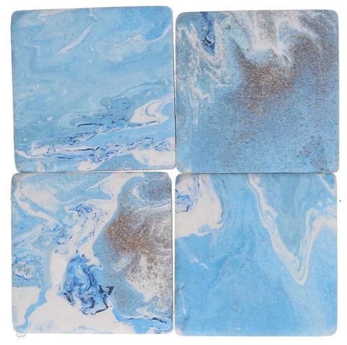 Gisela Graham resin coasters – water inks
