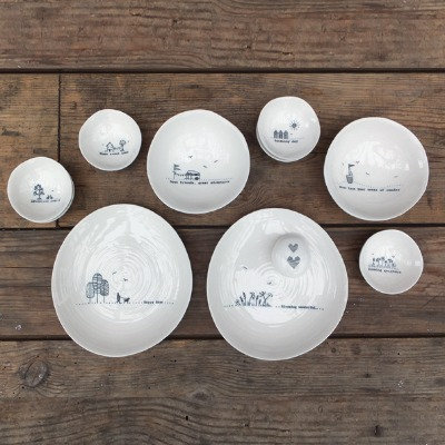 East of India Small porcelain bowls