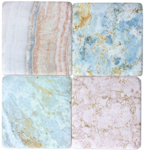 Gisela Graham resin coasters – mineral rock