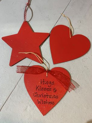 Personalised Christmas Star or Heart