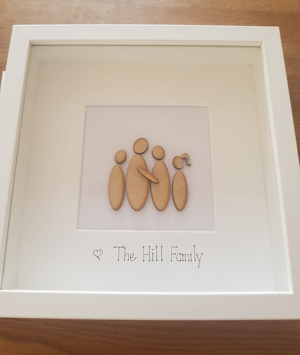 Personalised Pebble family frame