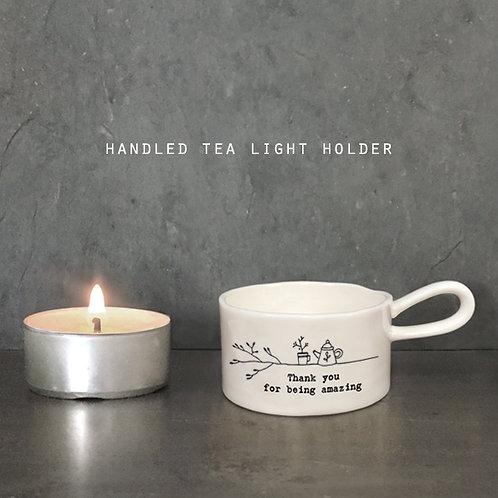 East of India Porcelain tea light candle holders