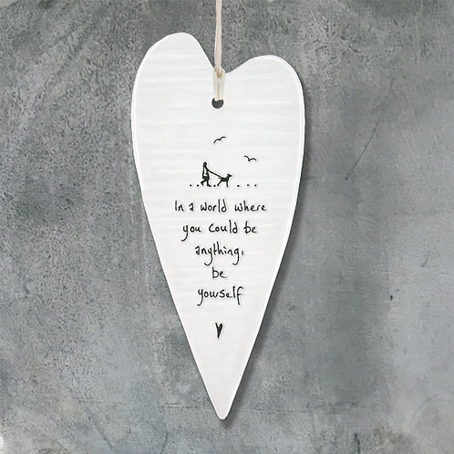 East of India Porcelain Heart. Be yourself